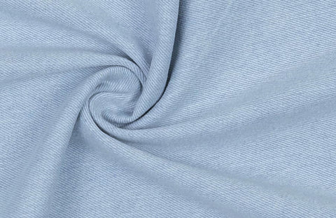 Washed Medium Weight Light Blue Denim Fabric