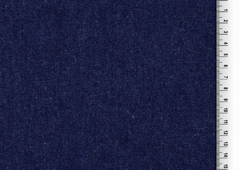Washed Medium Weight Dark Blue Denim Fabric