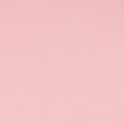Light Pink Tubular Ribbing Fabric