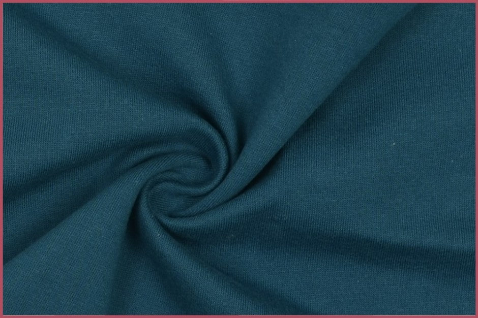 Teal Plain Sweatshirting Fabric