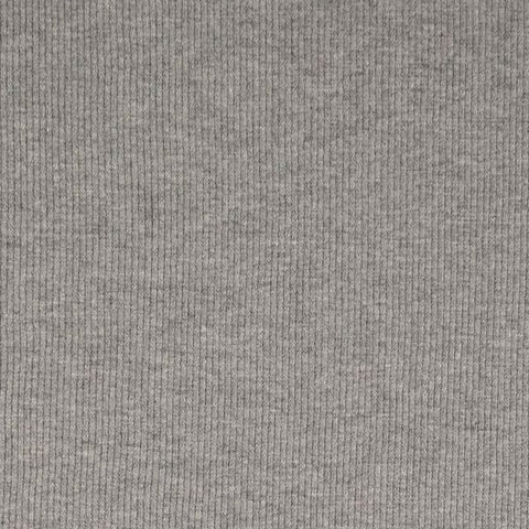 Mid Grey Melange Tubular Ribbing Fabric