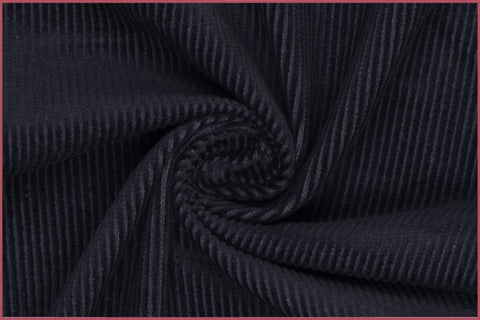 Plain French Navy Corduroy Fabric