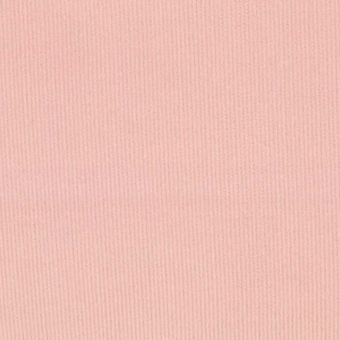 Baby Pink Plain Stretch Needlecord Fabric