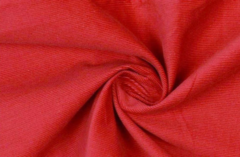Red Needlecord Fabric