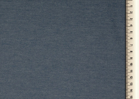 Plain Cool Blue Cotton Jersey Fabric