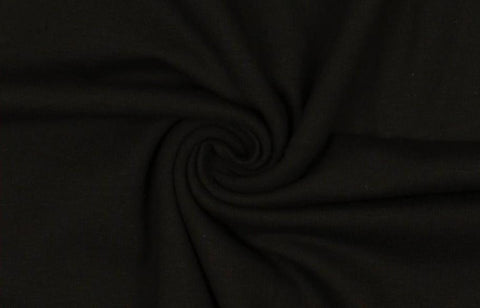 Plain Black Cotton Jersey Fabric