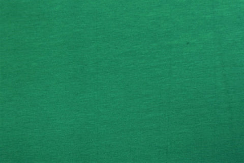 Plain Emerald Green Cotton Jersey Fabric