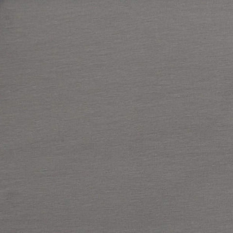 Plain Mid Grey Cotton Jersey Fabric
