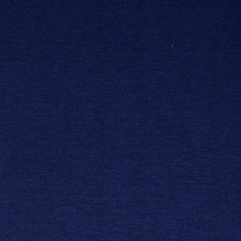 Dark Blue Plain Tubular Rib Jersey Cuffing Fabric