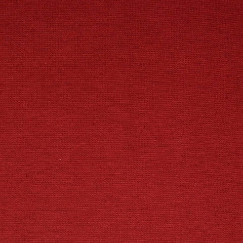Dark Red Plain Tubular Rib Jersey Cuffing Fabric