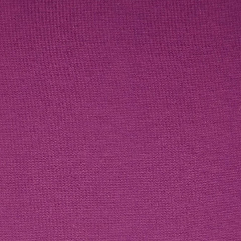 Grape Plain Tubular Rib Jersey Cuffing Fabric