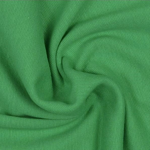 Green Plain Tubular Rib Jersey Cuffing Fabric