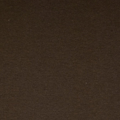 Chocolate Brown Plain Tubular Rib Jersey Cuffing Fabric