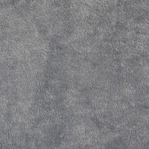 Grey Fur-Lined Sweatshirting Fabric