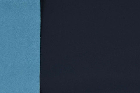 Navy/Blue Plain Soft Shell Fabric