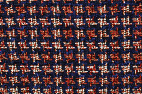Glitter Houndstooth Tweed Fabric