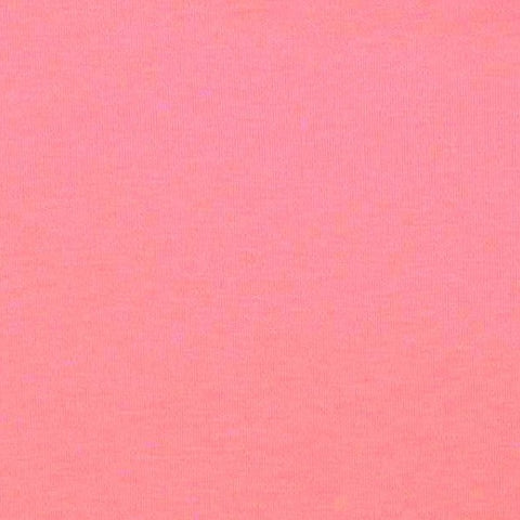 Bubblegum Organic Plain Melange Interlock Jersey Fabric
