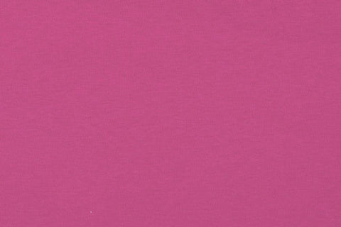 Raspberry Organic Plain Melange Interlock Jersey Fabric
