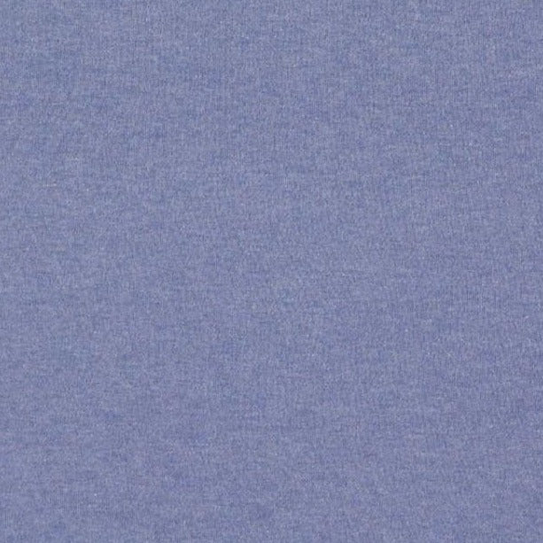 Organic Plain Melange Interlock Jersey - Denim