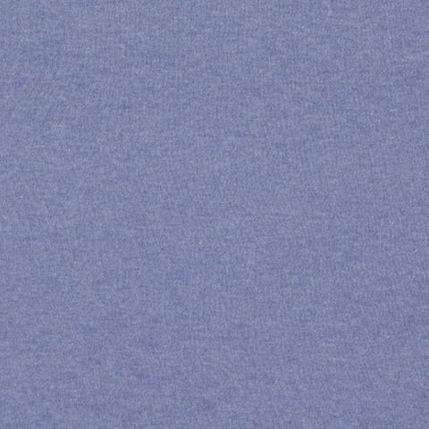 Denim Organic Plain Melange Interlock Jersey Fabric