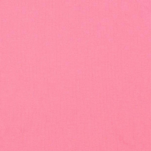 Bubblegum Organic Plain Melange Tubular Ribbing Fabric