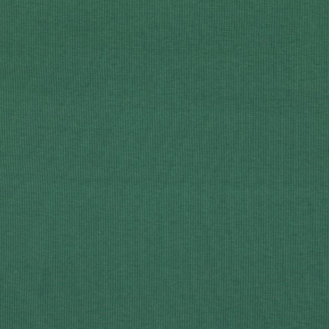 Dark Turquoise Organic Plain Tubular Ribbing Fabric