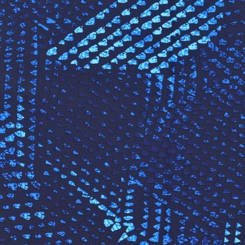 Abstract Blue Swim & Sport Knit Fabric