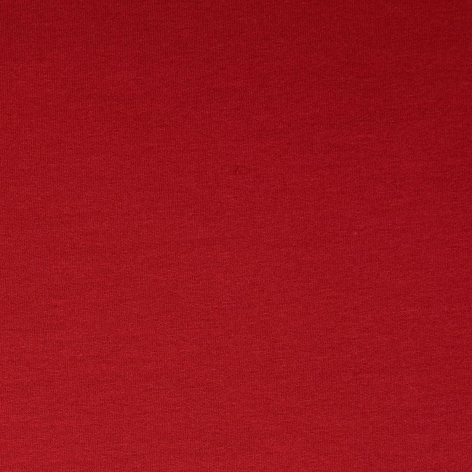 Red Plain French Terry Fabric