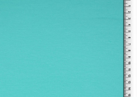 Turquoise Plain French Terry Fabric