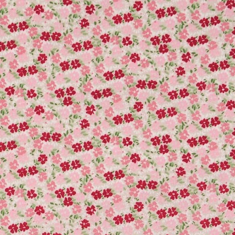Ditsy Floral Red/Pink Cotton Poplin Fabric
