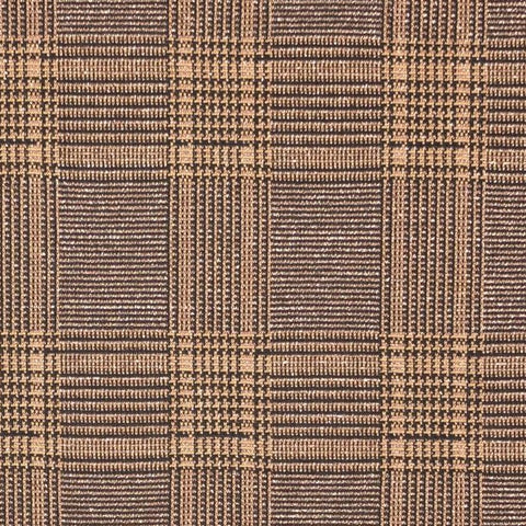 Check Bronze Metallic Jacquard Knit Fabric