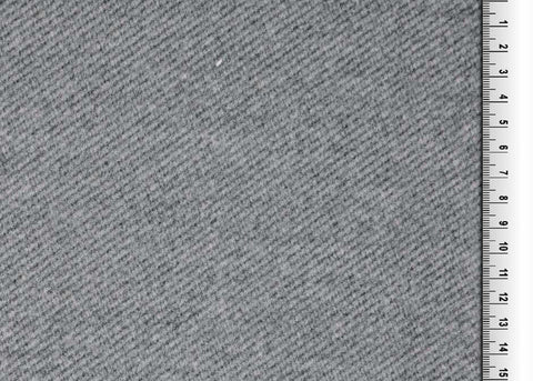 Grey Herringbone Wool Look Coating Fabric