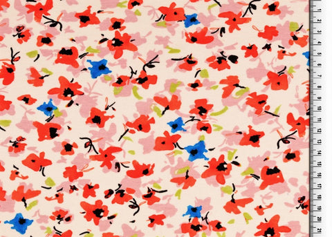 Floral Fun Viscose Jersey Fabric