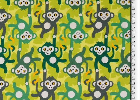 Monkeying Around Printed Cotton Jersey Fabric