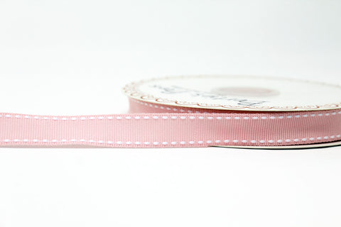 Light Pink Stitched Edge Ribbon