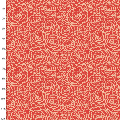 3 Wishes Madison - Peonies - 100% Cotton Fabric