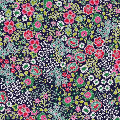 Dashwood Ace Lawn - Bahar Navy - Cotton Lawn Fabric
