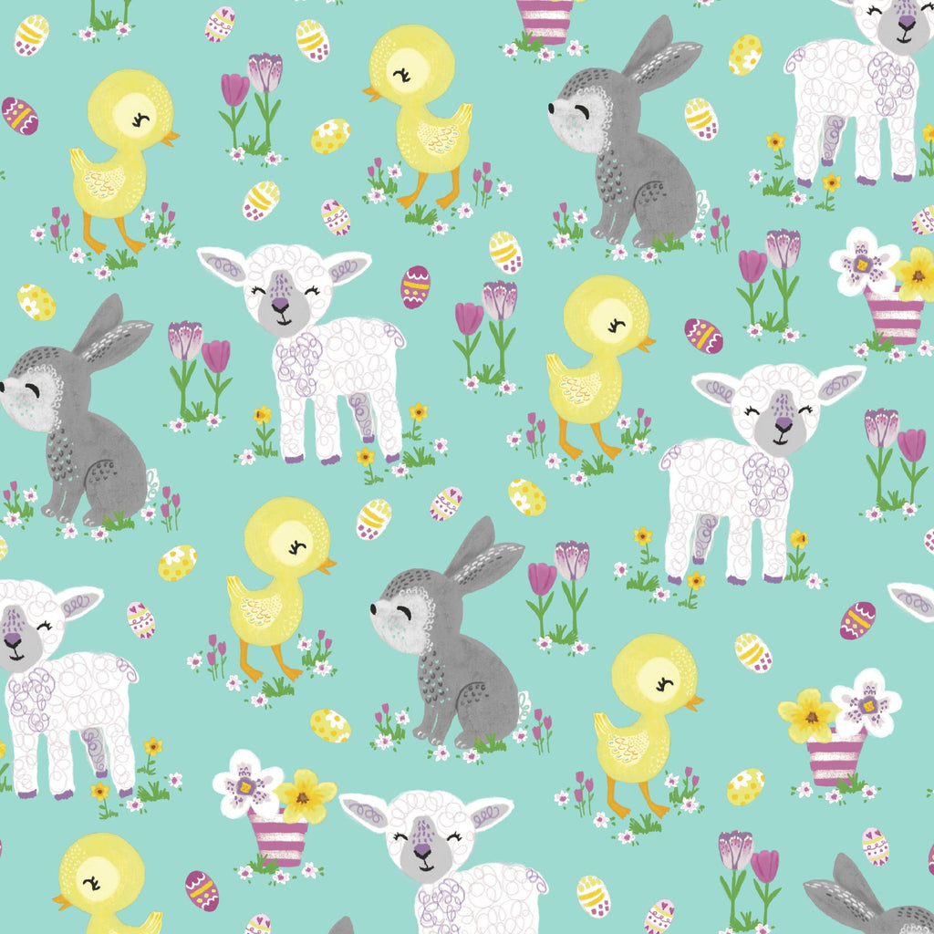 3 Wishes Novelty Easter - Baby Animals - 100% Cotton Fabric