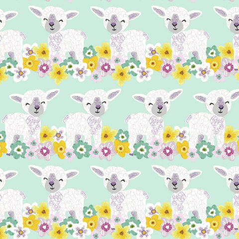 3 Wishes Novelty Easter - Baby Lambs - 100% Cotton Fabric