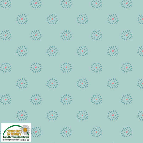Stof of Denmark Heartspring Mint Avalana Jersey Fabric