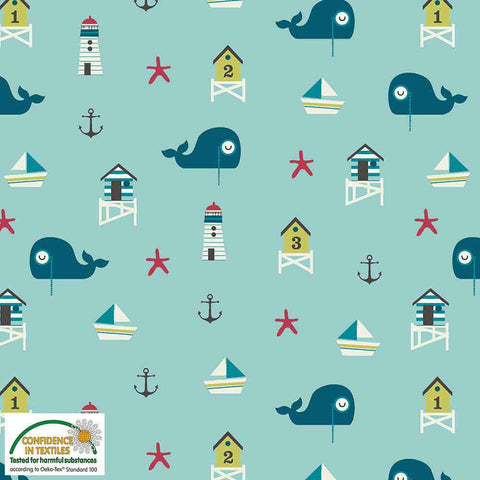 Stof of Denmark Sail Away Avalana Jersey Fabric