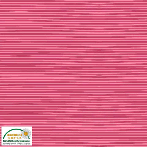 Stof of Denmark Pink/Red Mini Stripe Avalana Jersey Fabric