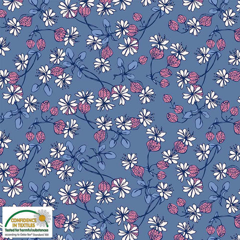 Stof of Denmark Cornflower Floral Avalana Jersey Fabric