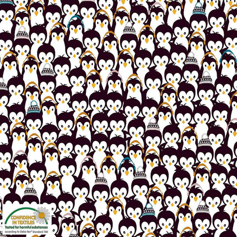 Stof of Denmark Penguin Huddle Avalana Jersey Fabric