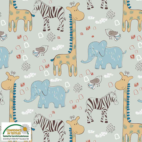 Stof of Denmark Safari Pals Avalana Jersey Fabric