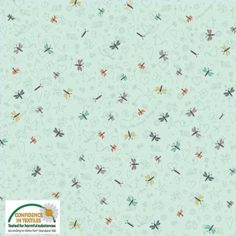 Stof of Denmark Mini Dragonflies Avalana Jersey Fabric