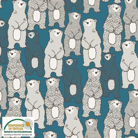 Stof of Denmark Polar Bears Avalana Jersey Fabric