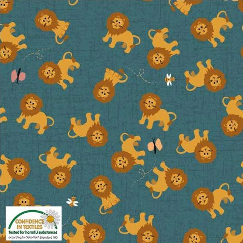 Stof of Denmark Little Lions Avalana Jersey Fabric