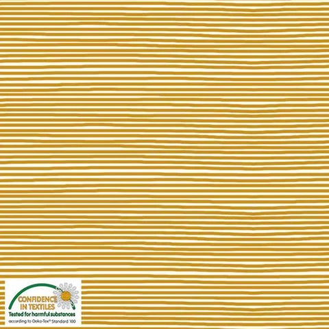 Stof of Denmark Cream/Orange Mini Stripe Avalana Jersey Fabric