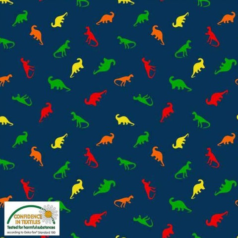 Stof of Denmark Tiny Dino Avalana Jersey Fabric